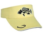 SNAPPER VISOR - WASHED YELLOW WITH BLACK & WHITE