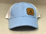 NEW HEATHER BLUE CAP - FISH OR DIE PATCH & A MESH BACK