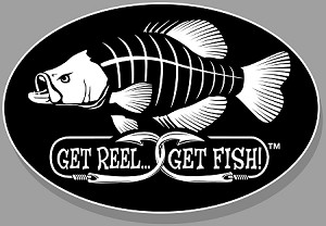 "Crappie Fishing Decal - 6"" x 9"" Oval"