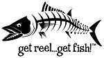 Black Jumbo KINGFISH Die-Cut Fishing Decal