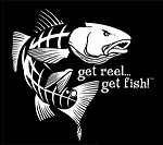White Jumbo Redfish Fishing Decal