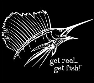 White Jumbo Sailfish Head Fishing Decal