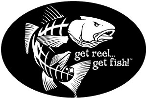 "Jumping Redfish Fishing Decal - 6"" x 9"" Oval"