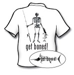 White Skeleton Fisherman Short Sleeve Fishing T-Shirt