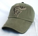 Olive Redfish Skeletal Fishing Cap