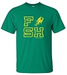 GREEN FISH CATCH SHORT SLEEVE T-SHIRT