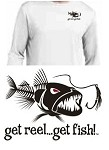 WHITE 'BAD FISH' LS PERFORMANCE T