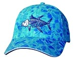 Tuna Skeletal Fishing Cap in Ocean Camo